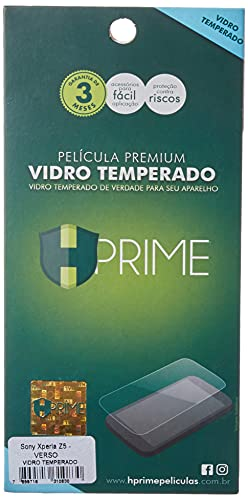 Pelicula de Vidro temperado 9h HPrime para Sony Xperia Z5 - VERSO, Hprime, Película Protetora de Tela para Celular, Transparente