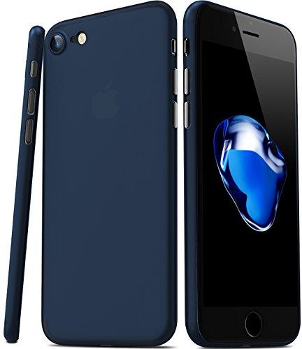 TOZO para iPhone 7 iPhone 8 Funda [0.35mm] Ultrafino [ Ajuste perfecto ] World's más delgado Hard Protect Funda Back Cubrir Bumper [ Semi-transparent ] Ligero 4.7 inch [Matte Ore Azul]