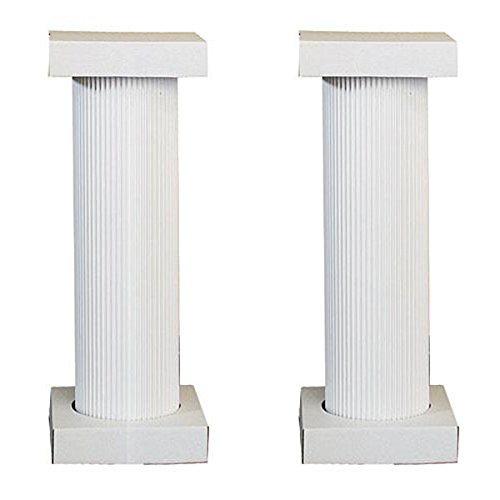 Shindigz 4' Cardboard White Fluted Pedestal, Set of 2