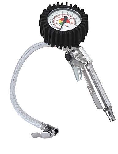 Original Einhell Reifenfüllmesser (Kompressoren-Zubehör, Arbeitsdruck 0-8 bar, genaues Befüllen von Reifen, Kontrolle des Reifendrucks, Ablassventil)