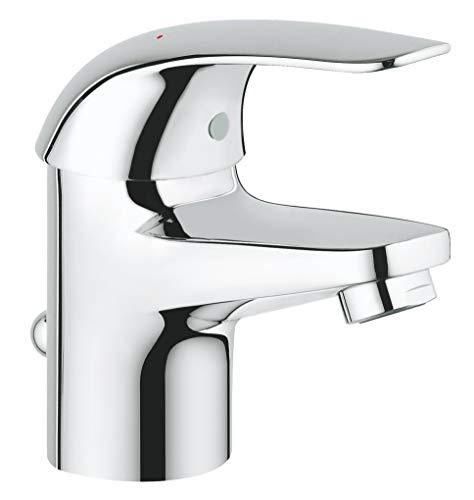 GROHE Euroeco | Badarmatur - Einhand-Waschtischbatterie, S-Size, mit Keramikkartusche | chrom | 23262000