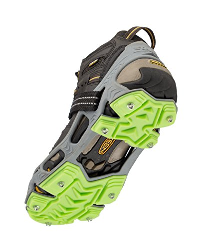 STABILicers Hike XP Traction Cleats for Hiking on Snow and Ice,Grey/Green, Small (1 Pair) (207821)