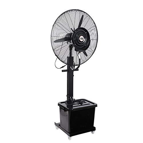 YUYI Climatizadores evaporativos Ventilador oscilante de nebulización con 3 velocidades de enfriamiento Ventiladores de Pedestal oscilantes de 90 ° Ventilador de Cobre con Motor de pie para Us