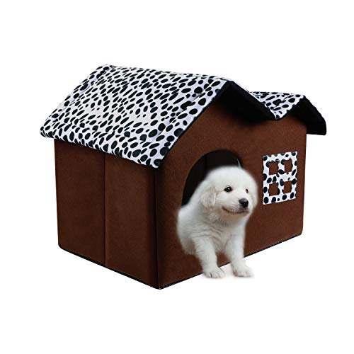 SKL Cat Dog Bed House 20 x 15 x 14 Inches Black Portable Indoor Pet House...