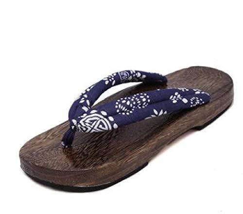 Zuecos Getaanimeeaime cosplay disfraces japoneses geta sandalias sandalias de verano hombres planos zapatos de madera Zapatillas zapatillas Flip-flops-6_43 Geta zuecos ( Color : 6 , Size : 40 )