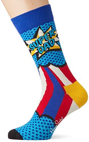 Happy Socks Super Dad Sock Calze, Multicolore (Multicolour 630), 7/10/2019 (Taglia Unica: 41-46) Uomo