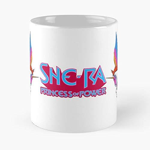 92Wear Motu She Ra He Man Princess of Power Adora Etheria - Best 11 oz Taza De Café - Taza De Motivos De Café