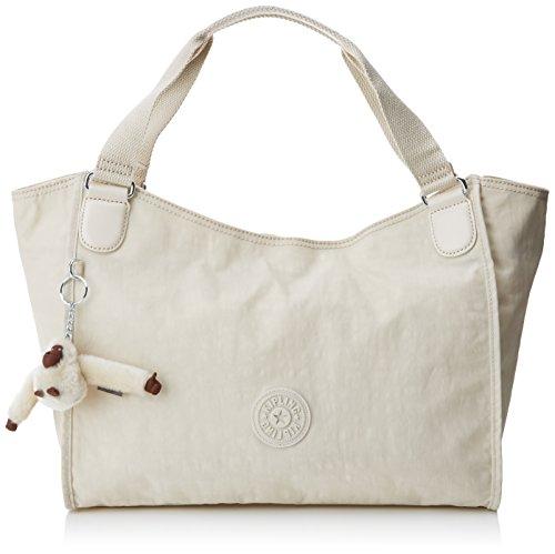 Kipling - Sarande N, Shoppers y bolsos de hombro Mujer, Off-White (Rainy...