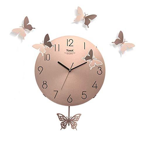 AIOJY Reloj De Pared Luz Moderna Lujo Lujo Simple Casa Muy M