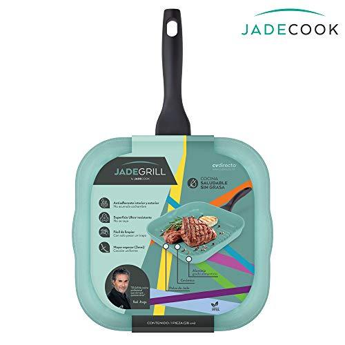 JADE COOK Sartén Grill de cocina. ¡Prepara tus alimentos SIN GRASA con el SARTÉN GRILL DE COCINA Jade…