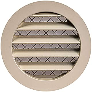 Vent Cover - Round Soffit Vent - Air Vent Louver - Grille Cover - Built-in Fly Screen Mesh - HVAC Ventilation (4'' Inch, A...