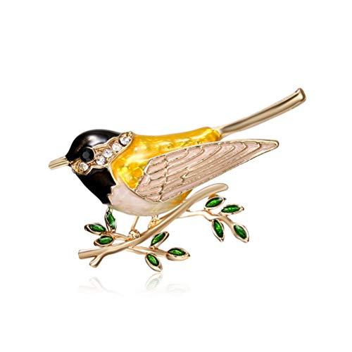 Comtervi - Spilla a Forma di Uccello, da Donna, in Lega, Stile Vintage