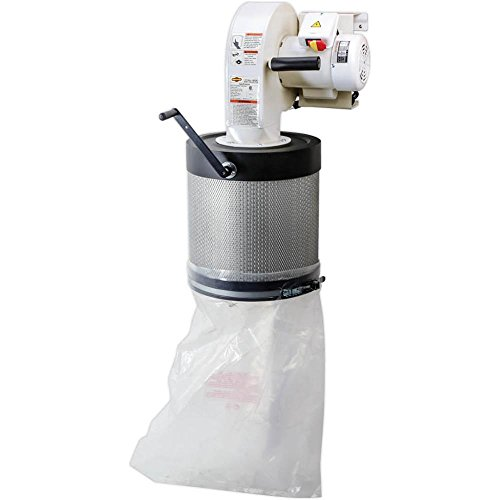 Shop Fox W1844 Wall Dust Collector with Canister