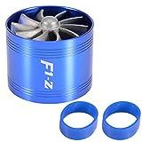 Cold Air Intake Universal Air Intake Turbine Carburetor Cold Air Intake Charger Turbo Fan Air Intake Tornado Intake Fuel Saver 64mm(Blue)
