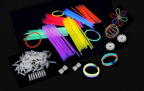 Partylandia S.r.l. Pulseras luminosas fluorescentes Starlight Glowstick Disco Glow Stick multicolor (300 unidades)