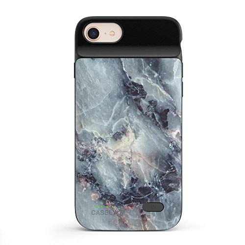 Casely Power 2.0 iPhone Case - Classic Blue Marble Rubber Case - iPhone 6/7/8 Phone Casing - Full-Body Protection Case - Heavy-Duty Shockproof Dual Layer Hard Shell - Anti-Scratch Flexible Bumper