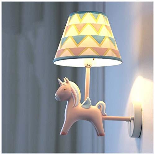 YYF Unicorn Kinderhaus Wandleuchte LED Schlafzimmer/Nachttischlampe/Wohnzimmer/Gang