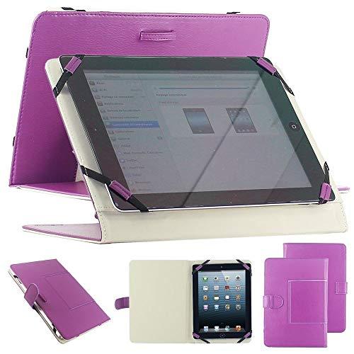 Custodia universale supporto custodia colore viola Finta Pelle per Tablet PC 10 pollici