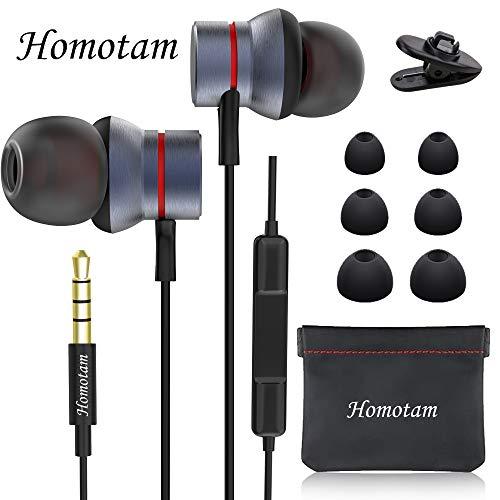 In Ear Kopfhörer, Smartphone Headset,Stereo Ohrhörer mit Mikrofon HiFi-Klang 2020,Noise Cancelling Headset mit Weichen und Komfortablen Ohrstöpseln und Ideal für iPhone, iPad, Smartphone
