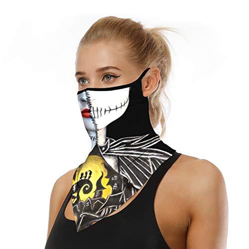 Tsyllyp Halloween Cosplay Costume Unisex Bandana Rave Face Mask Multifunction Scarf Anti Dusk Neck Gaiter 3D Print Cover UV Protection