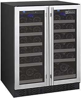 Allavino FlexCount VSWR36-2SSFN - 36 Bottle Dual Zone Wine Refrigerator with French Doors