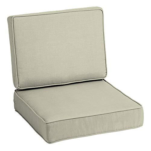 Arden Selections ProFoam Essentials 24 x 24 x 6 Inch Outdoor Deep Seat Cushion Set, Tan Leala