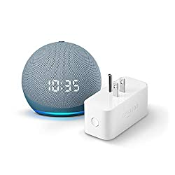 All-new Echo Dot (4th Gen) with clock + Amazon Smart Plug | Twilight Blue