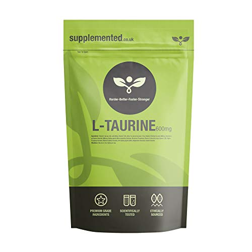 L-Taurine 600mg 180 Capsules High Strength Energy and Endurance Sports Supplement UK Made. Pharmaceutical Grade