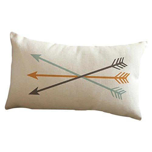 Beikoard Taies d'oreiller Housse de Coussin Flèche imprimée taie d'oreiller Housse de Coussin pour canapé Taie d'oreiller Rectangulaire Taie d'oreiller Decorative (30cm * 50cm, E)