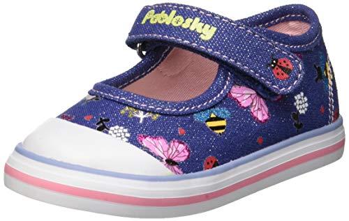 Pablosky Zapatillas sin Cordones para Niñas, (Azul 953620), 21 EU