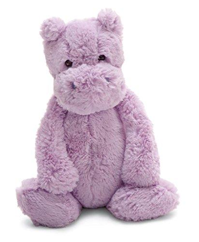 Jellycat Bashful Lilac Hippo Stuffed Animal, Medium, 12 inches