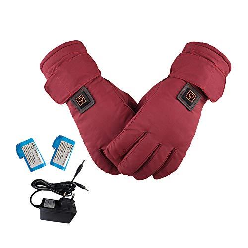 Lembeauty Guantes eléctricos recargables con calefacción, guantes térmicos para motocicleta, impermeables, con pantalla táctil, calentador de manos para mujer