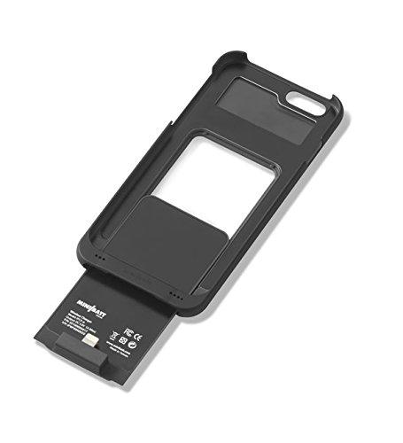 Minibatt Funda Power Case iPhone 6 adaptar el teléfono a la Carga inalámbrica Qi, Receptor Wireless Charge, Carcasa de Protección para iPhone 6 (Negro)