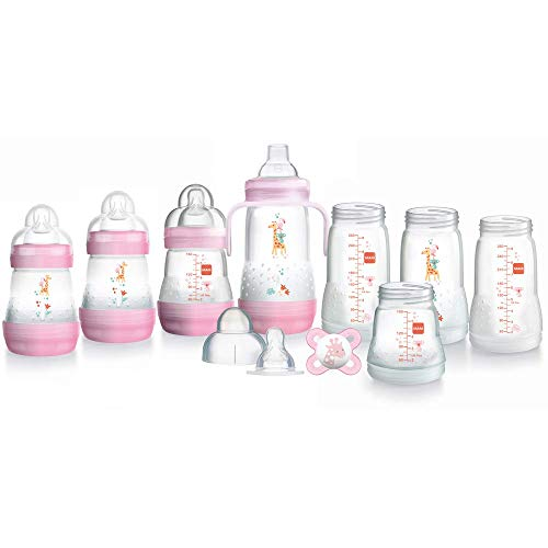 MAM Easy Start - Set Biberon Autosterilizzanti Anti-Coliche 2017 (Rosa)