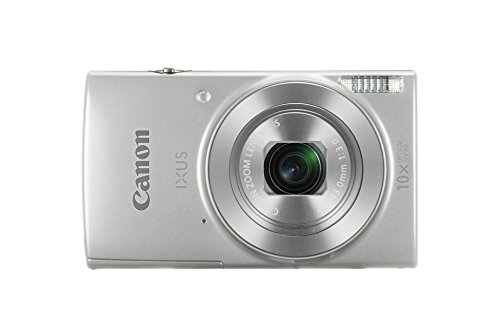 Canon IXUS 190 Digitalkamera (20 Megapixel, 10x optischer Zoom, 6,8 cm (2,7 Zoll) LCD Display, WLAN, NFC, HD Movies) silber