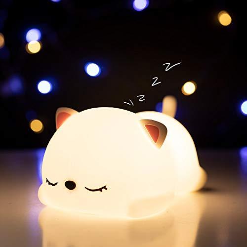 Kitty Night Light for Girls, Kawaii Cute Christmas Birthday Gifts for Baby BoysToddler Teens Cat...