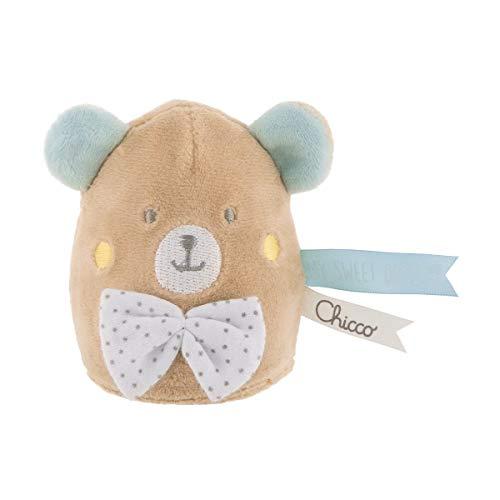 Chicco My Sweet dou Dou Lamparita Osito - Lámpara quita miedos anti oscuridad para bebés, tierno peluche, diseño oso
