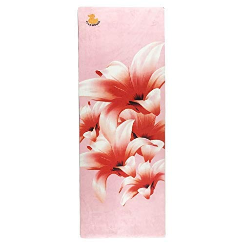 -Ji Yoga Natuurrubberovereenkomst Yoga Mat 1,5 mm ultra-dunne suède antislip Opvouwbare Portable Travel Deken yoga (kleur: roze) luhua (Color : Pink)