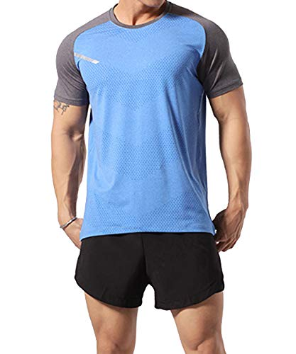 GYMAPE Camiseta deportiva manga corta hombre