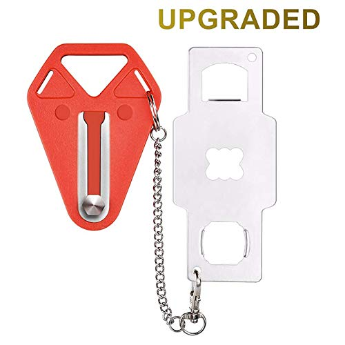Portable Door Lock,Travel Lock, Add Extra Locks for Additional Safety and Privacy, Solid Heavy Duty Lock Prevent Unauthorized Entry, Perfect for Traveling, AirBNB, Hotel, Home,Apartment (1)