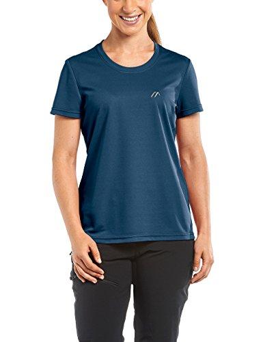 Maier Sports Waltraud T-Shirt Technique pour Femme XXXL Bleu - Aviator