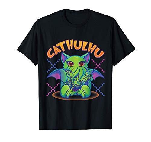 Cute Kawaii Cathulhu Pun Cthulhu Kitty Kraken Camiseta