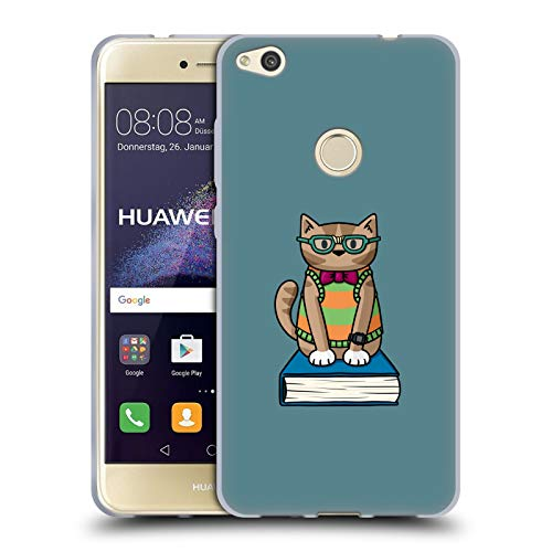 Head Case Designs Ufficiale Beth Wilson Nerd Gatti Doodle Cover in Morbido Gel Compatibile con Huawei P8 Lite (2017)