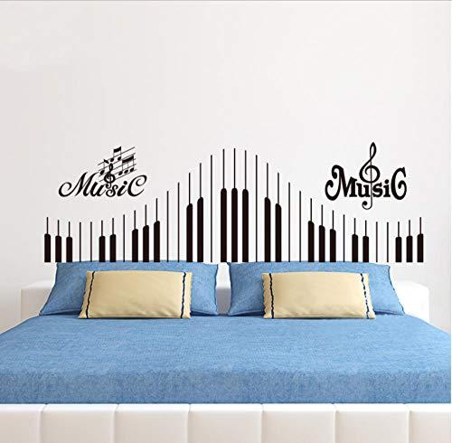 MUXIAND muurstickers, Piano toetsenbord notities Aangepaste naam PVC Home Decor muur Vinyl Kwekerij Kamer Interieur Lettering Art Room DIY Verjaardagscadeau Reizen wonen 100x32cm