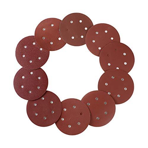 100 discos de lija de 150 mm con gancho y bucle de papel de lija surtido 40 80120240400600800 1000 1500 2000 papel de lija de grano 6 agujeros para lijadora orbital aleatoria