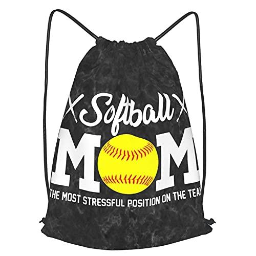 VJSDIUD Borsa da viaggio Softball Mom For Mom Drawstring Strap Pack Travel Bag Sport Gym Yoga Bag