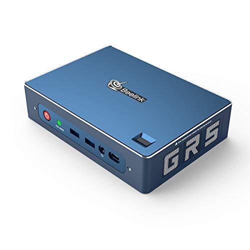 Beelink GTR Mini PC Windows 10 Pro,AMD Ryzen 5 3550H Processor(up to 3.7 GHz) 8GB DDR4 256GB NVMe SSD+1TB HDD,Radeon Vega 8 Graphics,WiFi 6,Bluetooth 5.0,Dual Gigabit Ethernet,Gaming PC