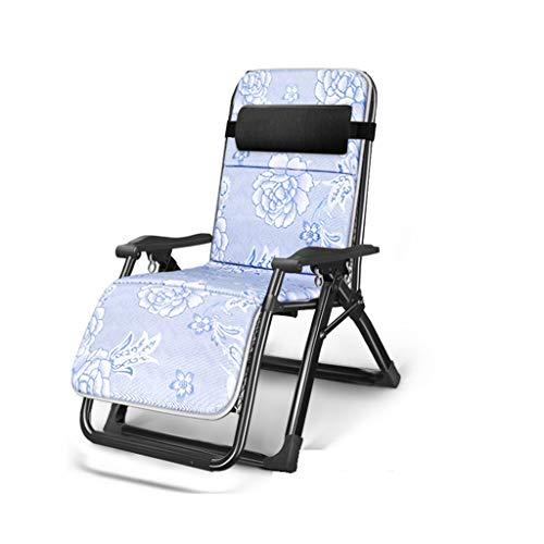 KHL Version améliorée de la Chaise de Tube carré Complet Super Large renforcement Chaise Pliante lit Loisirs Sieste Feuilles arrière canapé Paresseux Maison Balcon Chaise