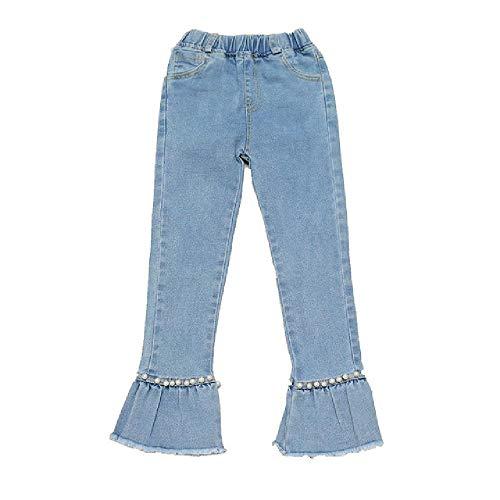 NOBRAND Jeans para niños Niñas Jeans con Perlas Pantalones para niños Pantalones