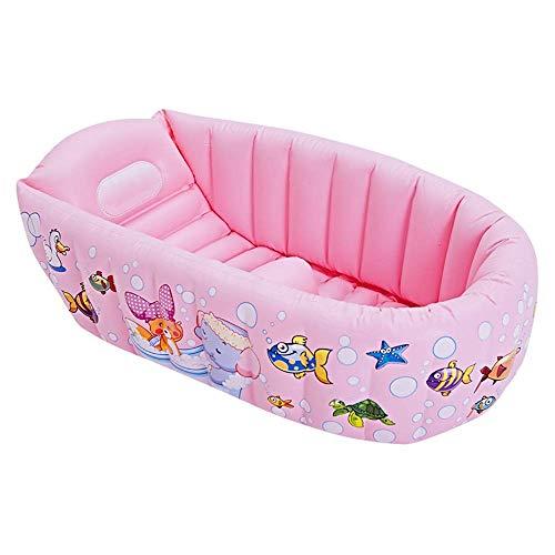 SANON Piscina Inflable, Zona Infantil, así Rectangleinflatable niños Pool90x64x23cm bebé Doble Bañera Fit Verano del jardín del Agua Juegos de Juguete WTZ012 (Color : Pink)